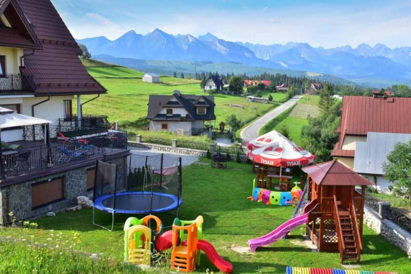 Ogród z widokiem na Tatry